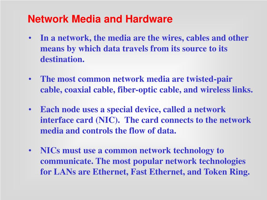 Network Media and Hardware