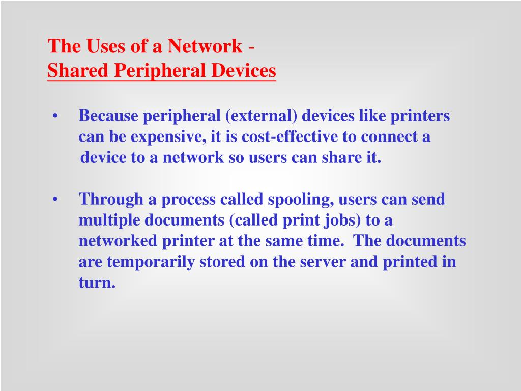 The Uses of a Network