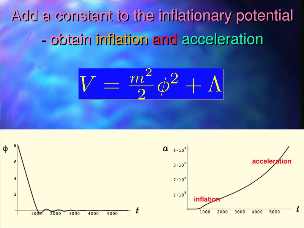 Add a constant to the inflationary potential - obtain