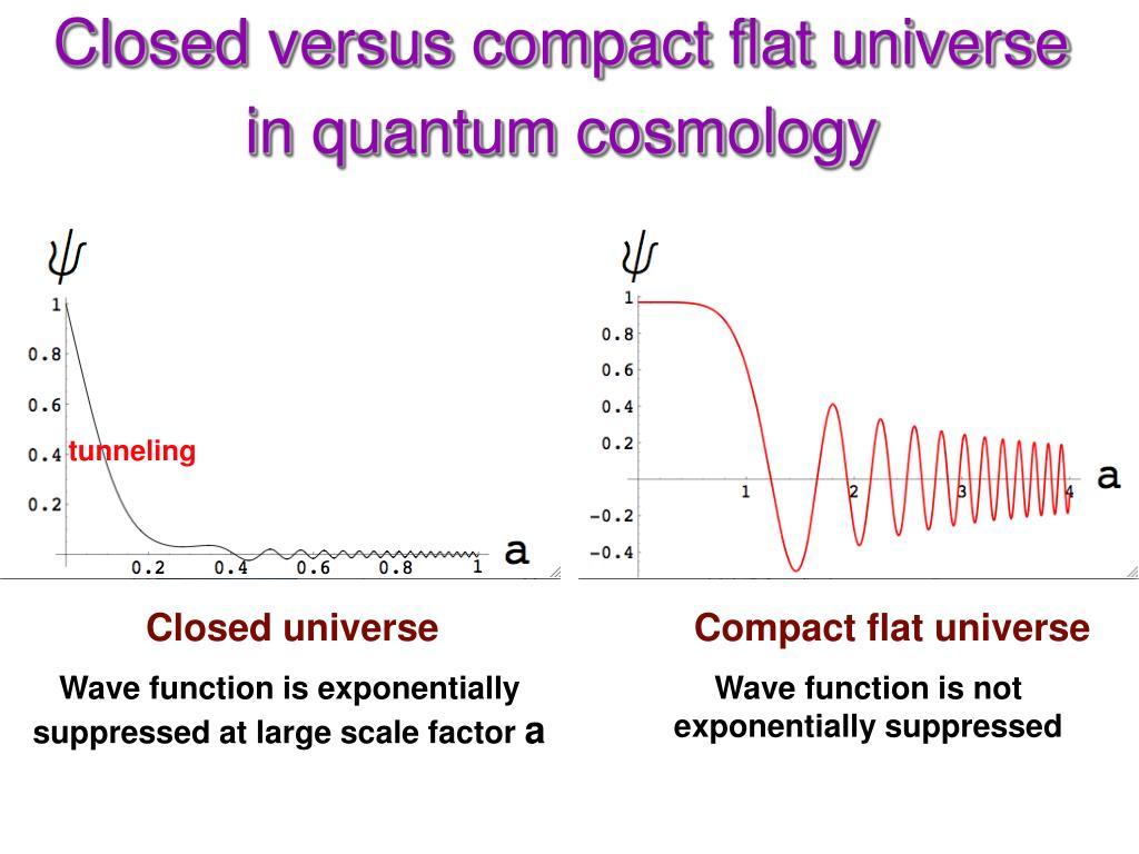 Closed versus compact flat universe in quantum cosmology