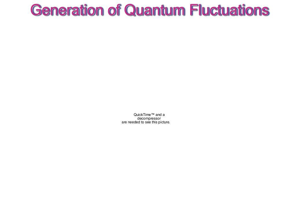 Generation of Quantum Fluctuations