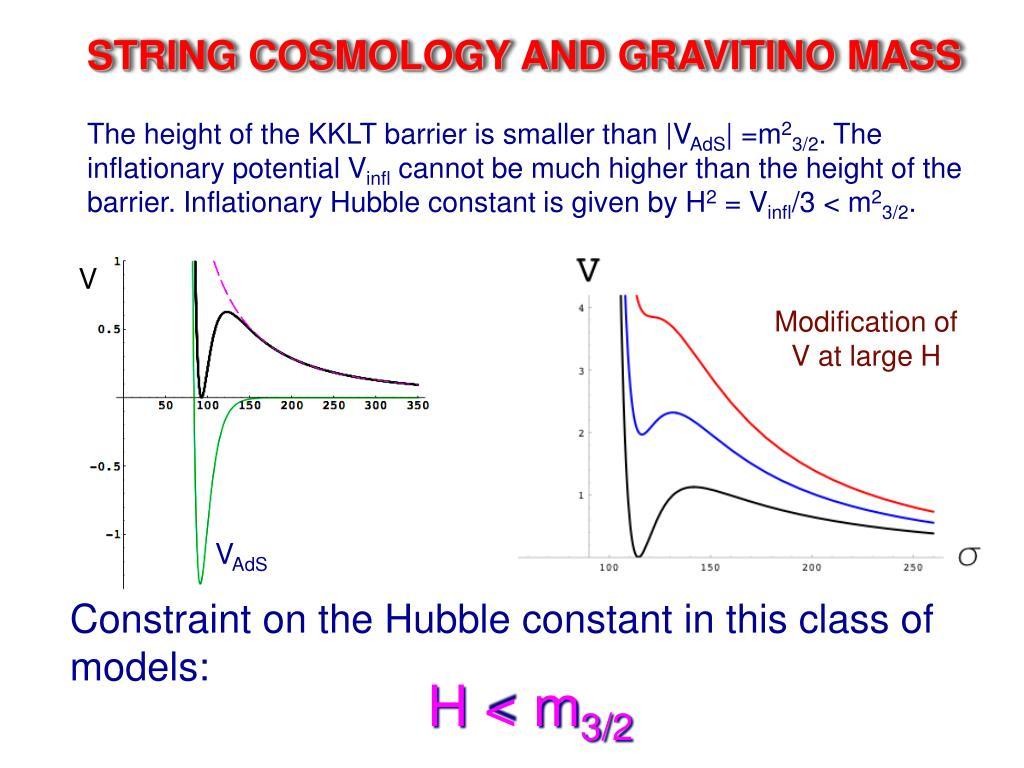 STRING COSMOLOGY AND GRAVITINO MASS