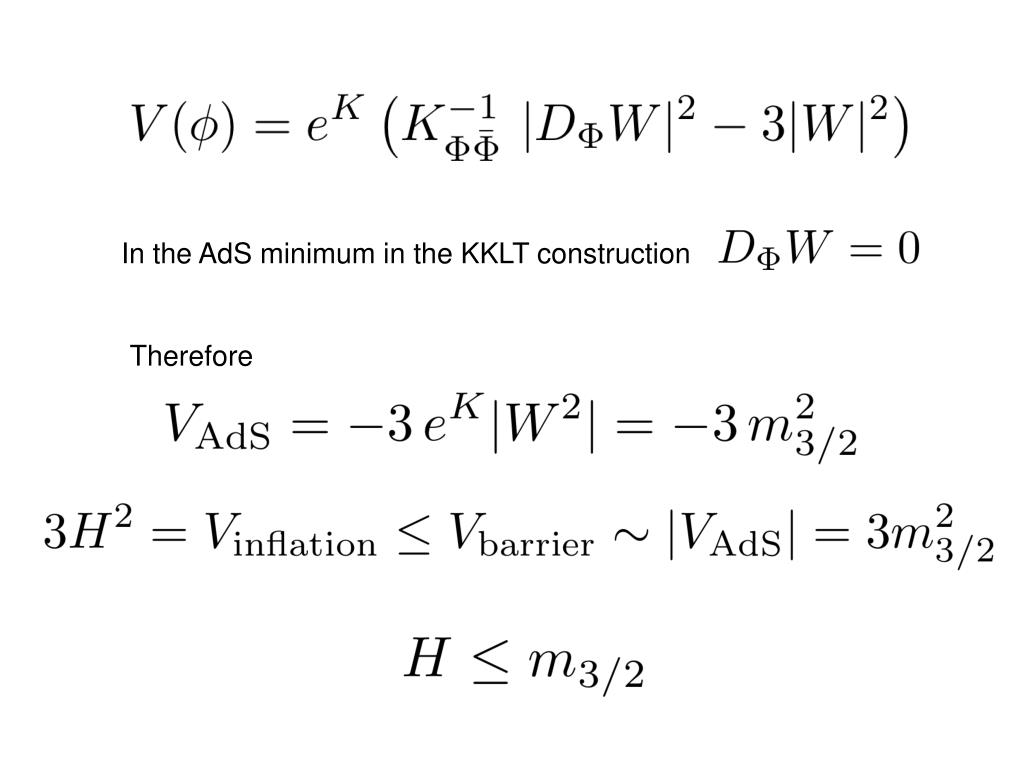 In the AdS minimum in the KKLT construction