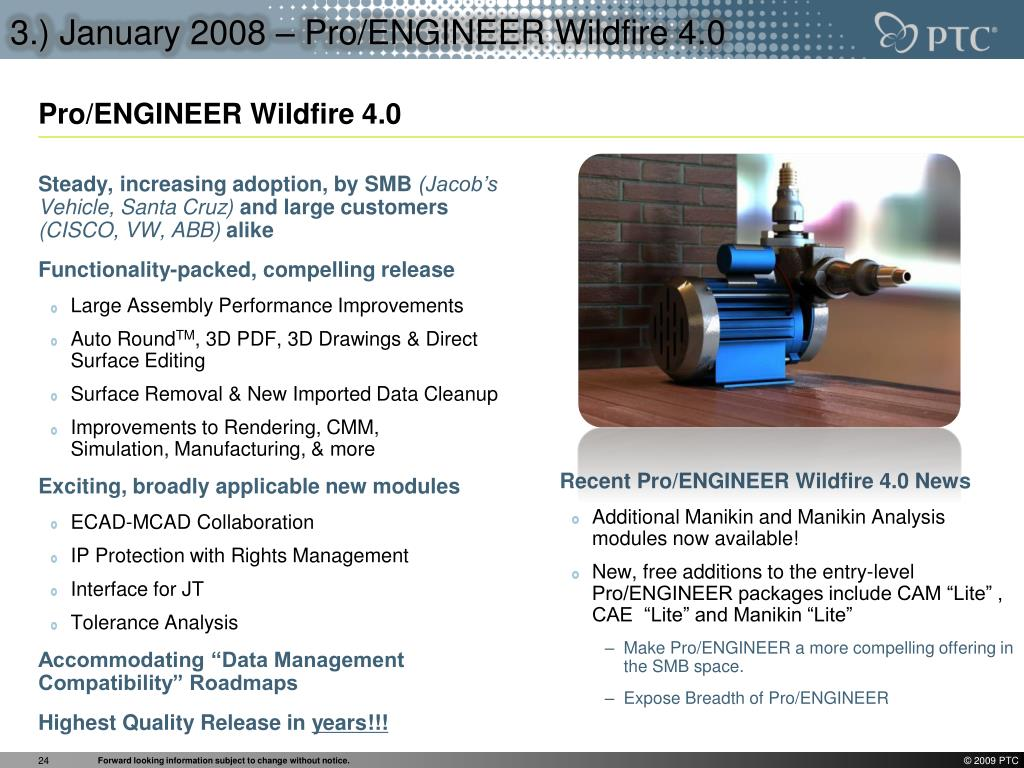 Recent Pro/ENGINEER Wildfire 4.0 News
