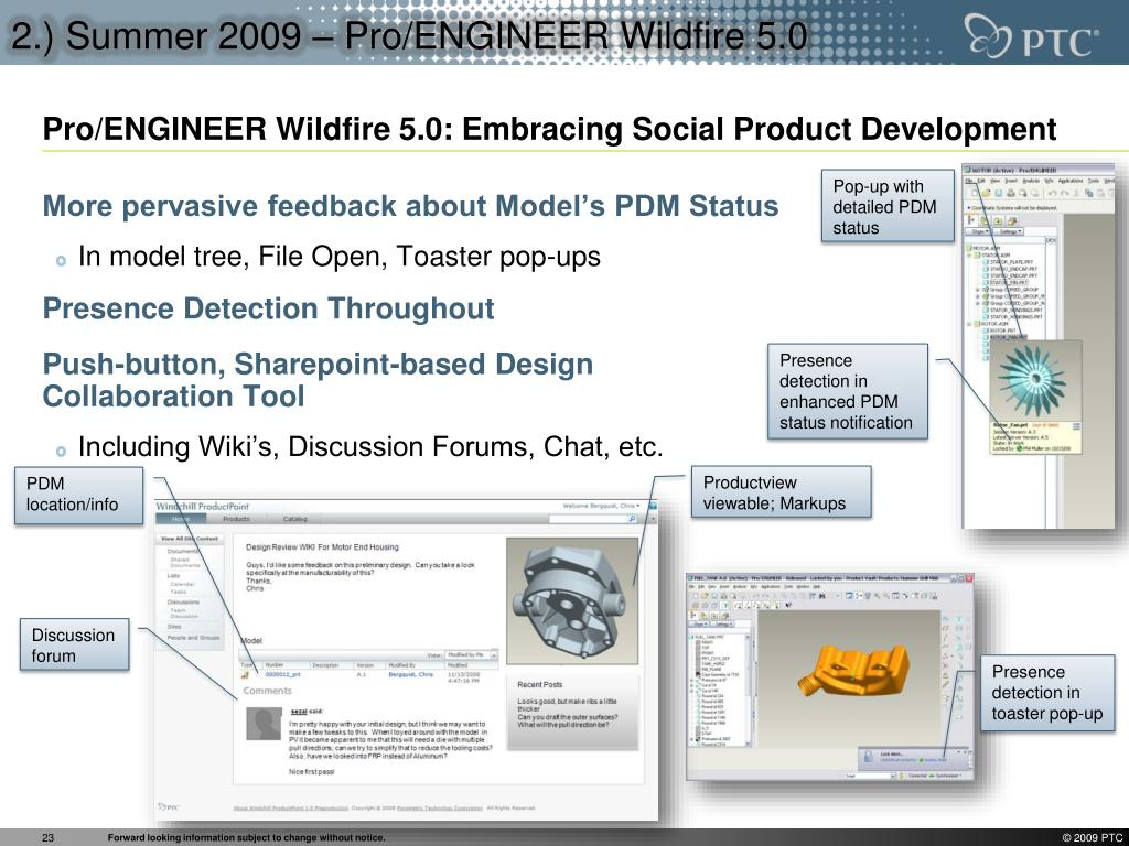 2.) Summer 2009 – Pro/ENGINEER Wildfire 5.0