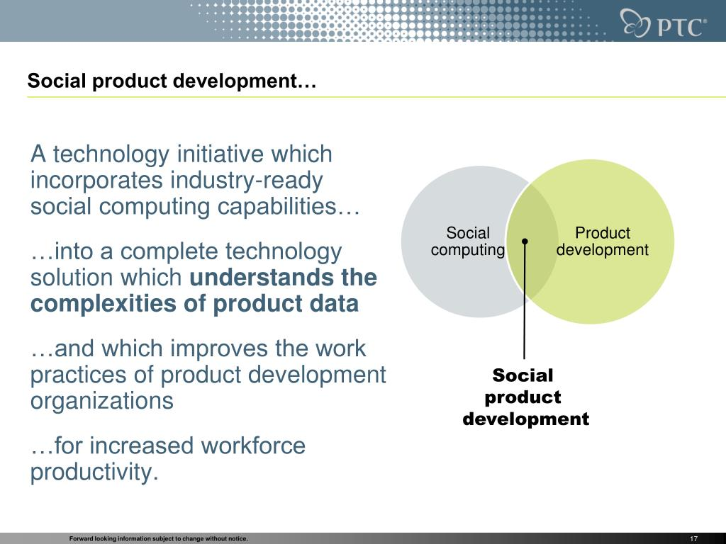 Social product development…