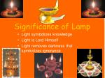 significance of lamp