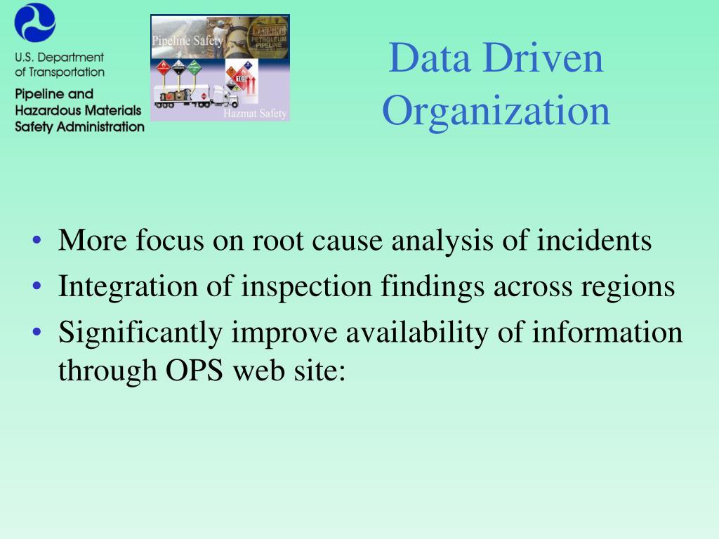 Data Driven Organization