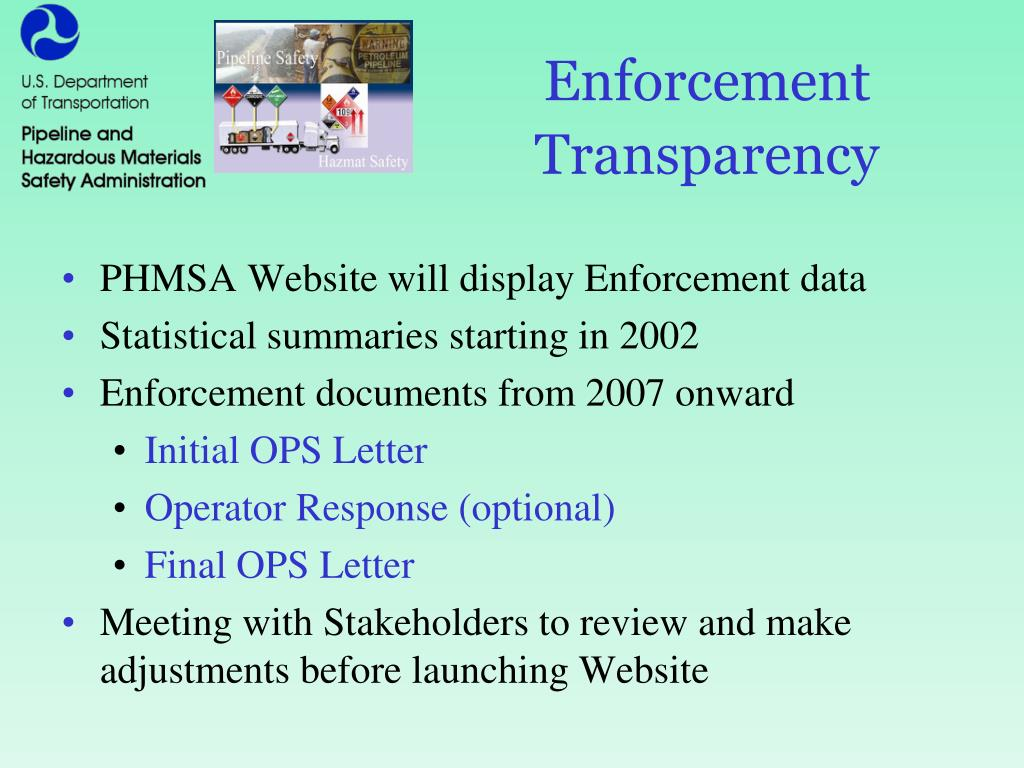 Enforcement Transparency