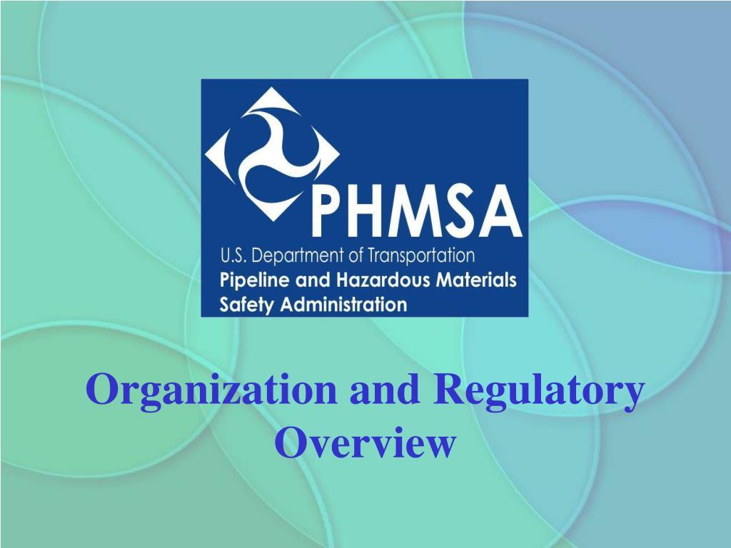 Organization and Regulatory Overview