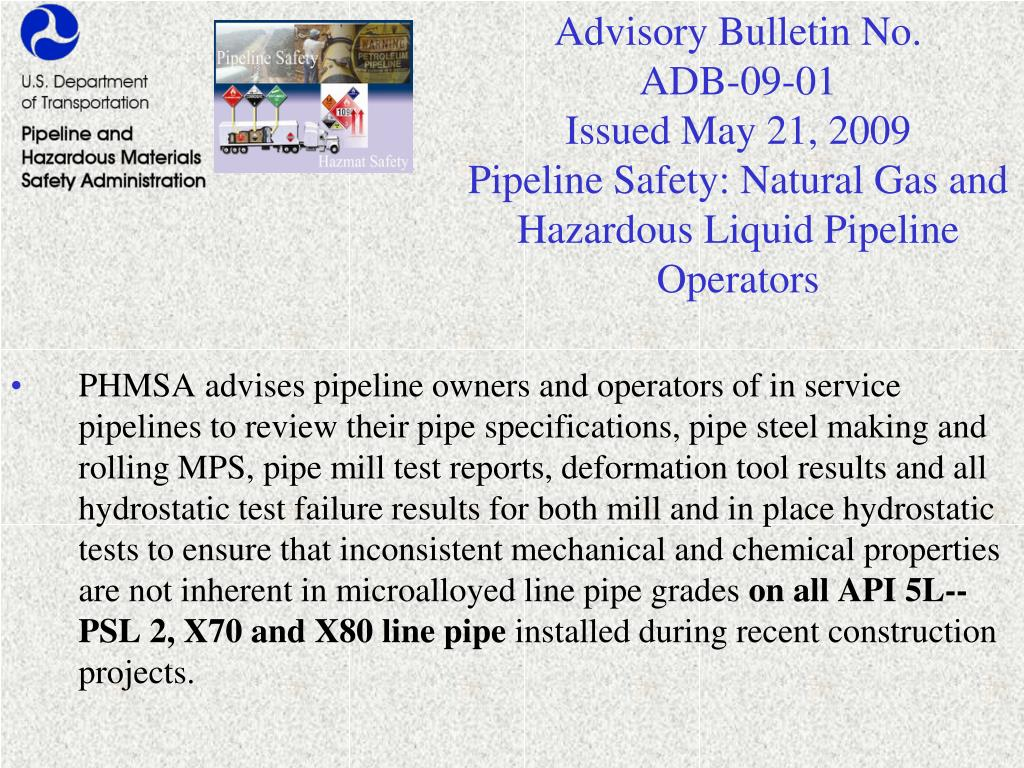 Advisory Bulletin No.