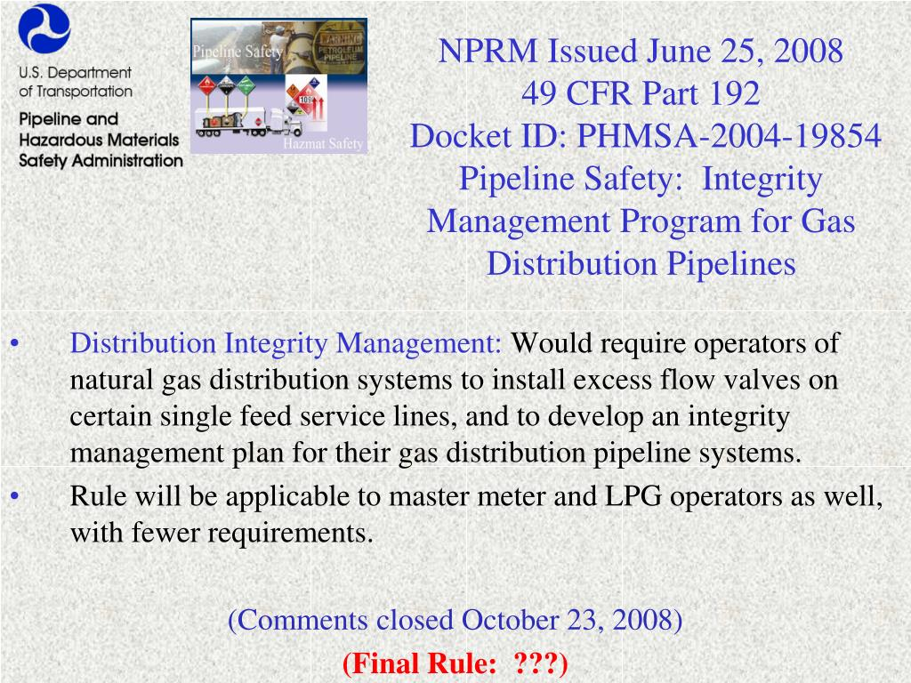 NPRM Issued June 25, 2008