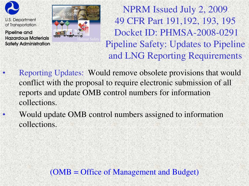 NPRM Issued July 2, 2009