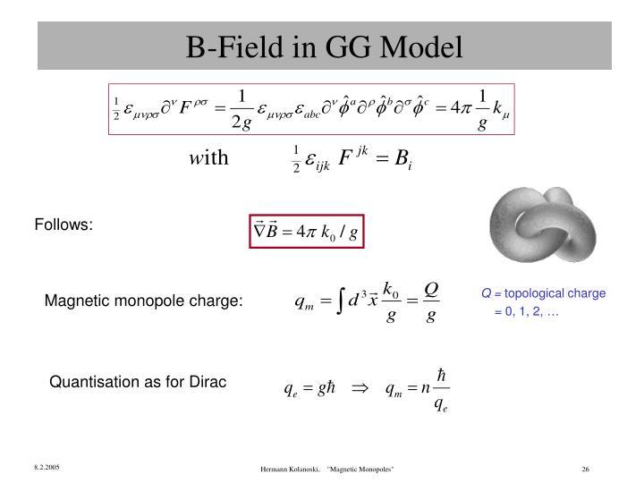 B-Field in GG Model