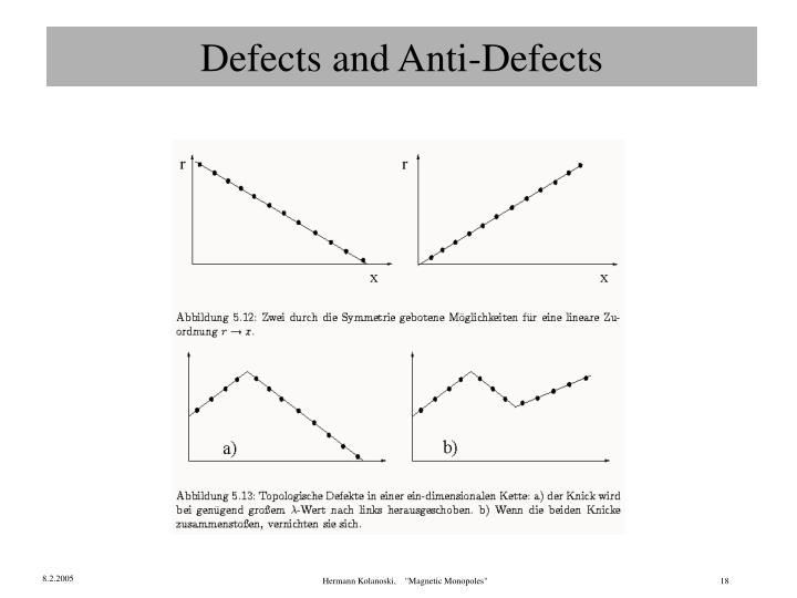 Defects and Anti-Defects