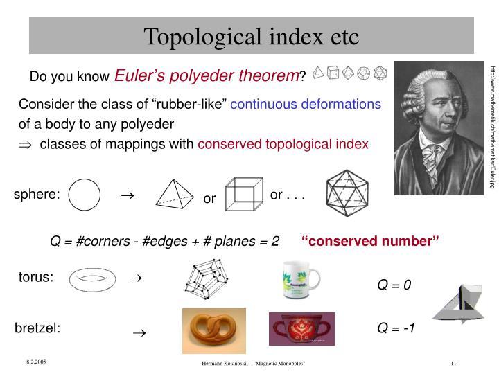 Topological index etc