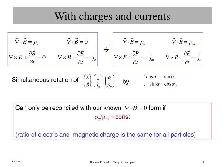 With charges and currents