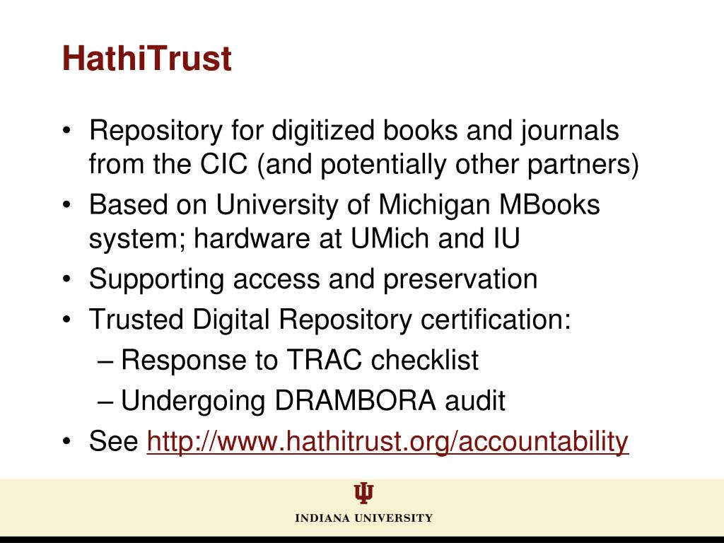 Repository for digitized books and journals from the CIC (and potentially other partners)