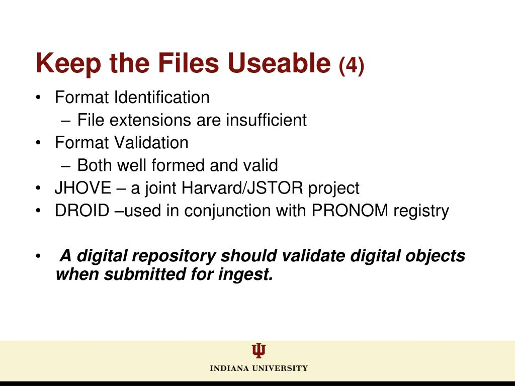 Keep the Files Useable