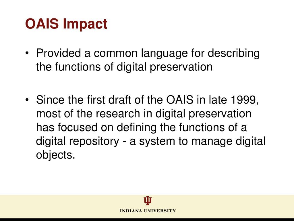 OAIS Impact