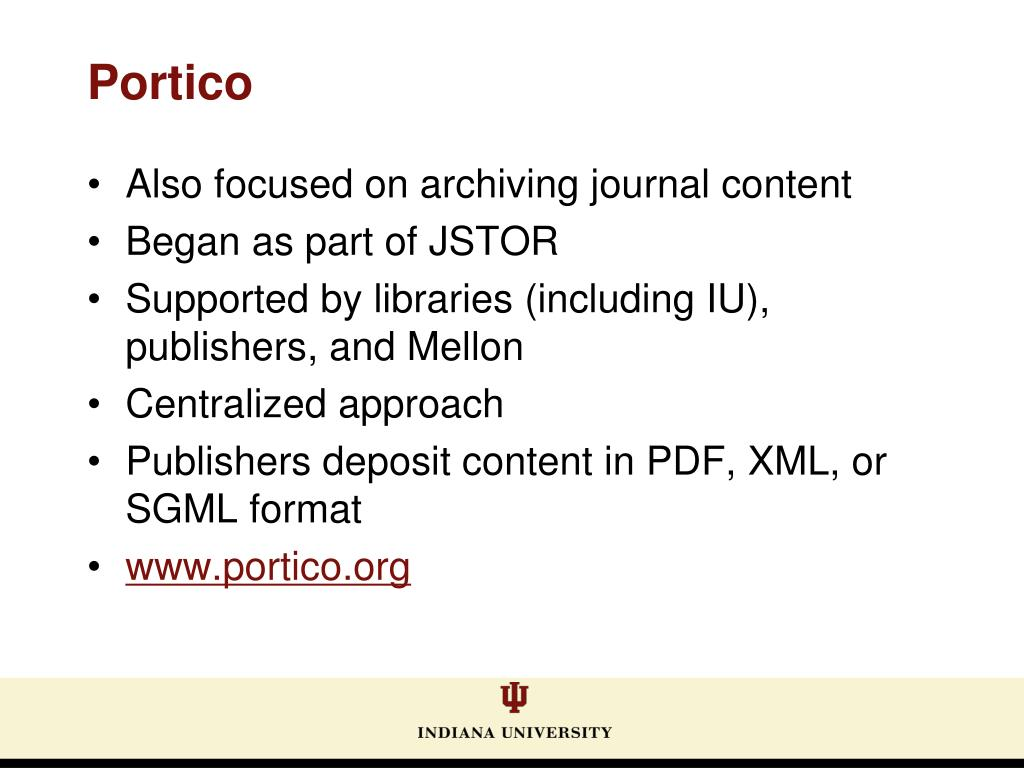 Also focused on archiving journal content