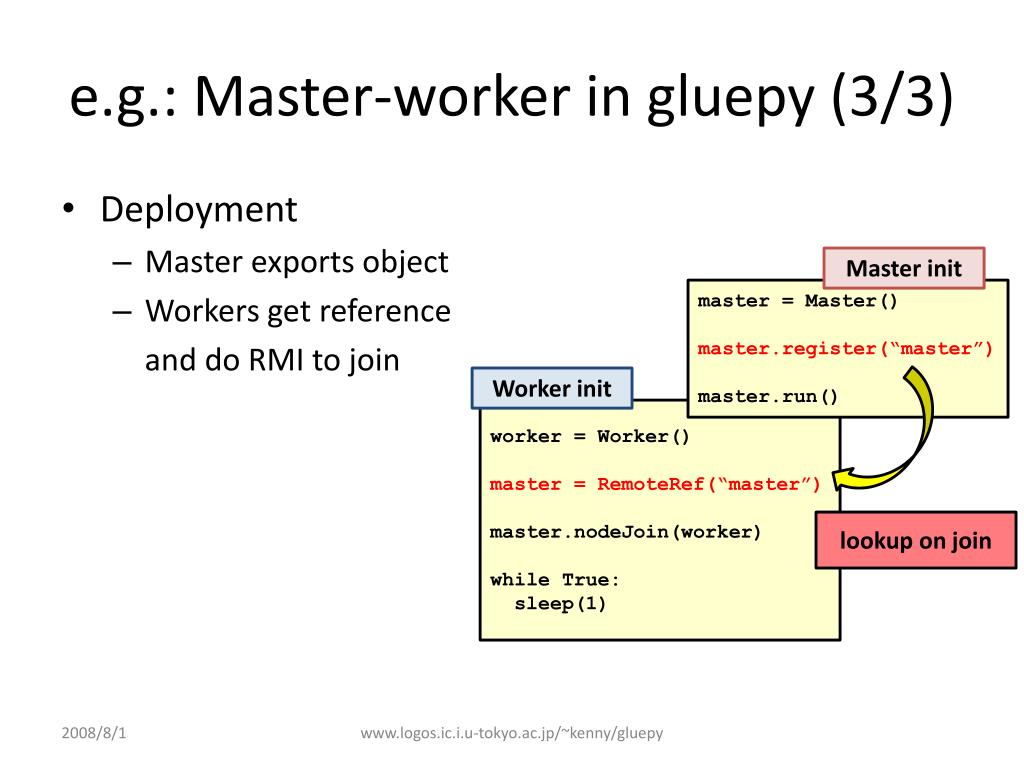 e.g.: Master-worker in gluepy (3/3)
