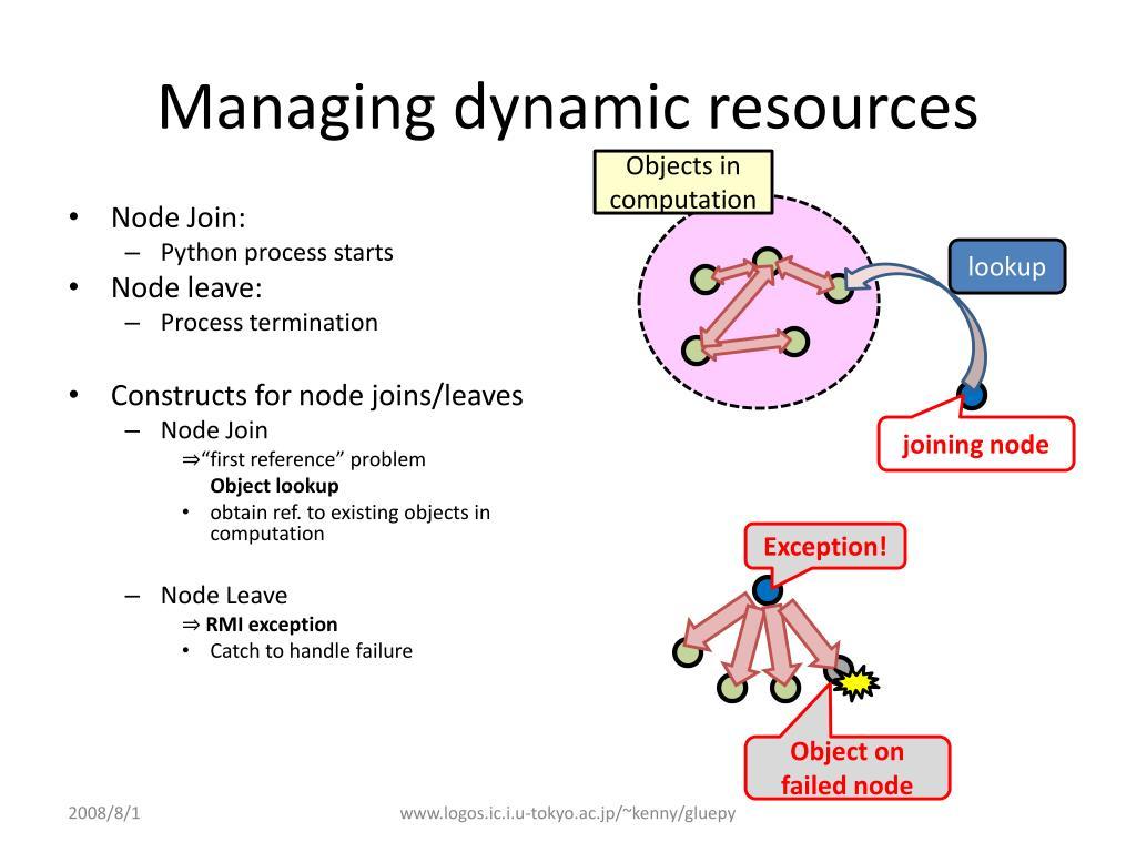 Managing dynamic resources