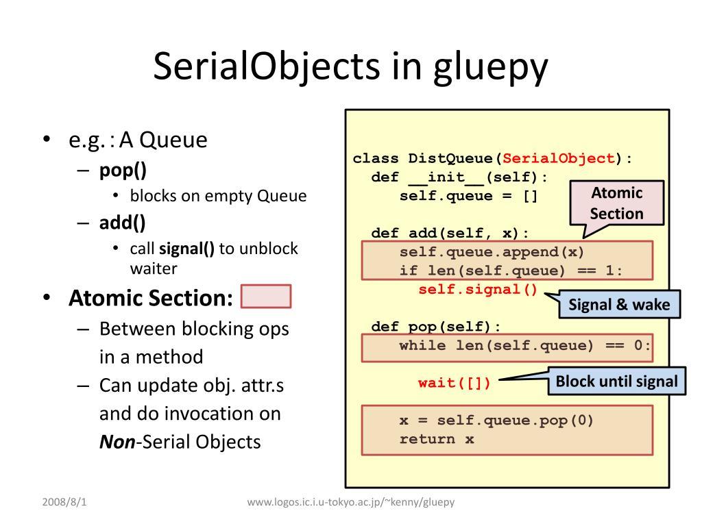 SerialObjects in gluepy
