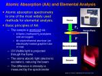 atomic absorption aa and elemental analysis