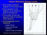 atomic electronic energy levels19