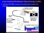 laser induced breakdown spectroscopy libs
