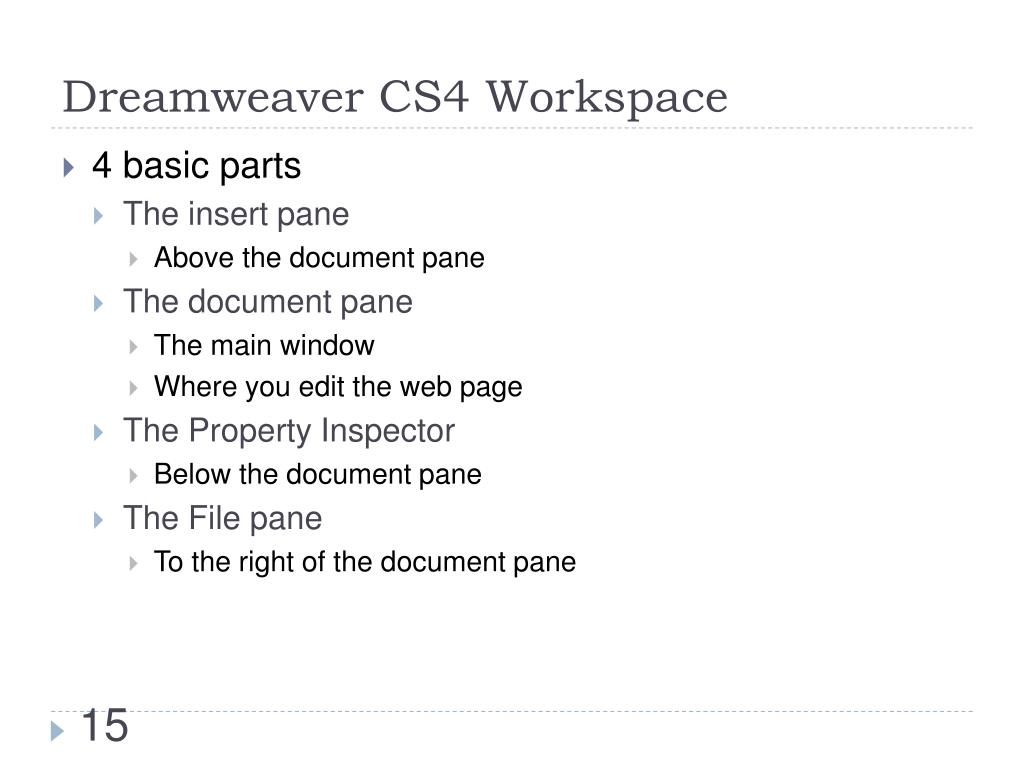 Dreamweaver CS4 Workspace