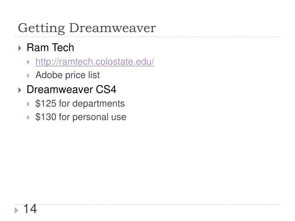 Getting Dreamweaver