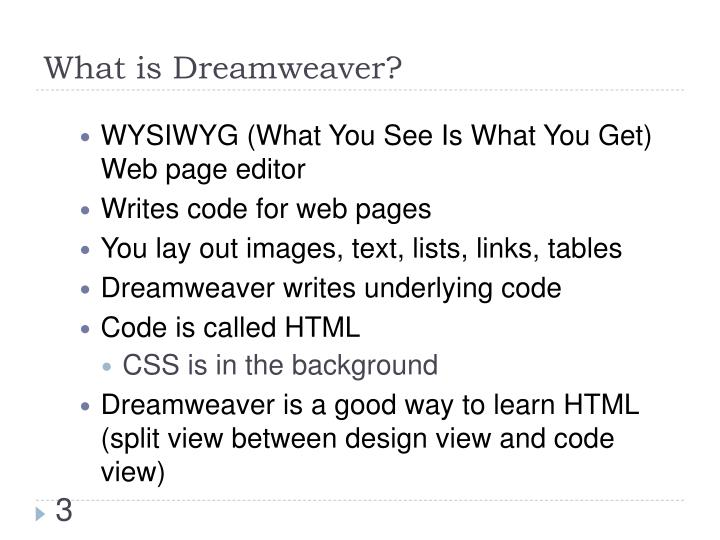 What is dreamweaver