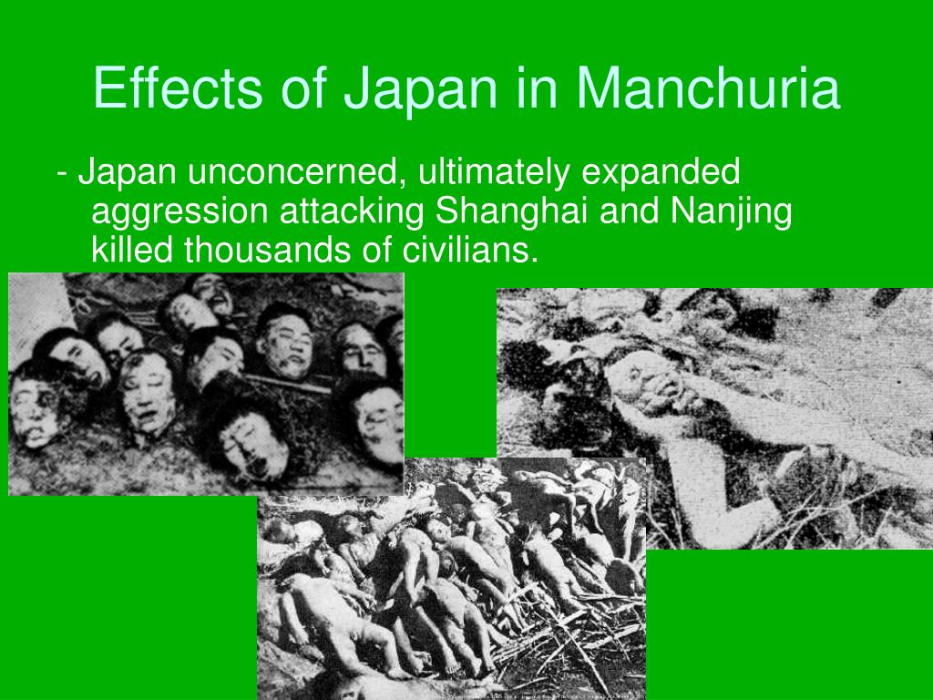 Effects of Japan in Manchuria