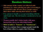 random notions