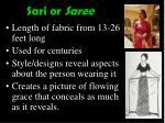 sari or saree