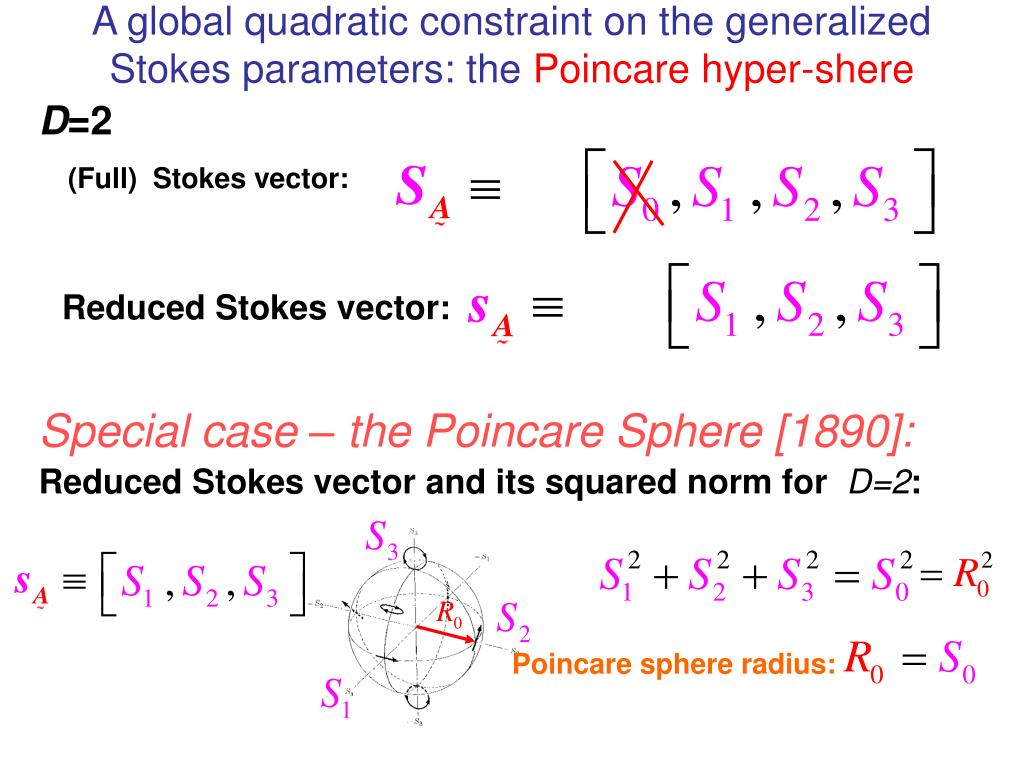 A global quadratic constraint on the generalized Stokes parameters: the