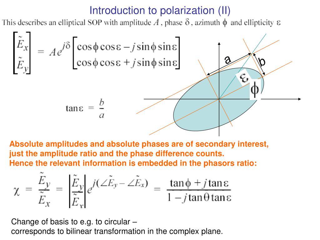 Introduction to polarization (II)
