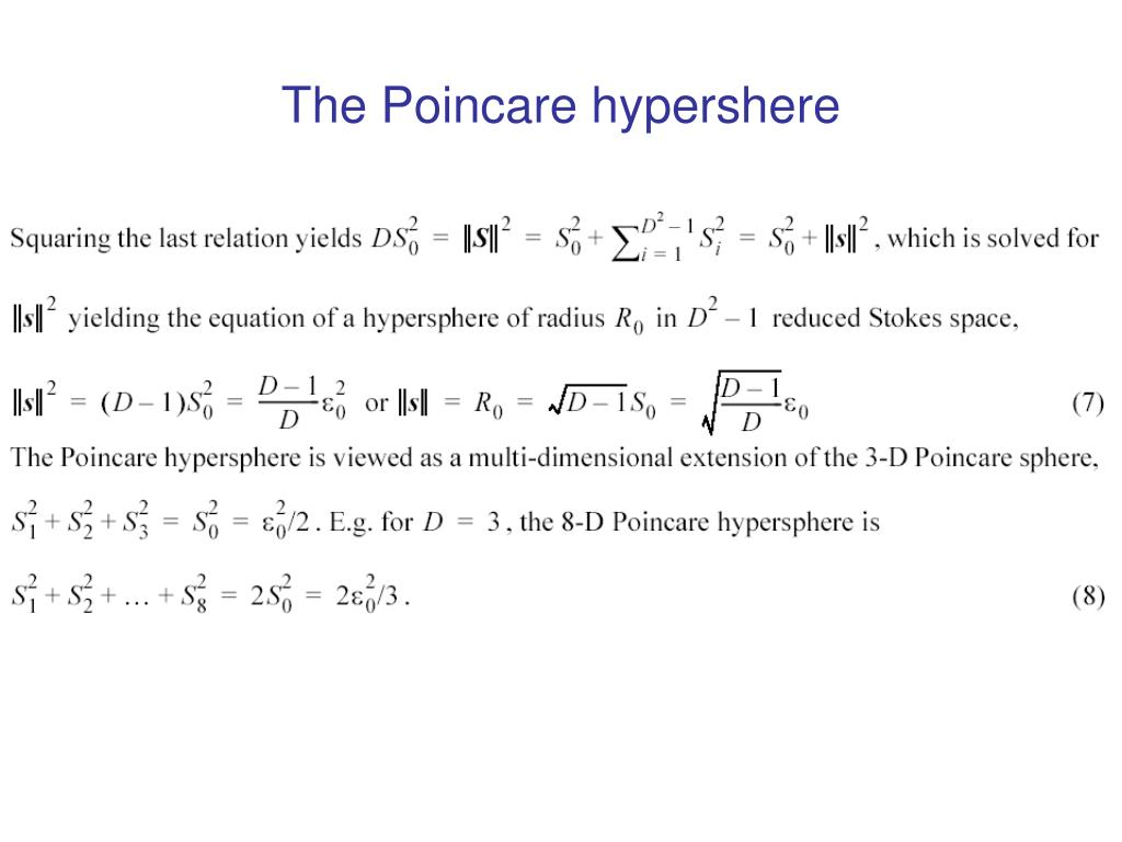 The Poincare hypershere