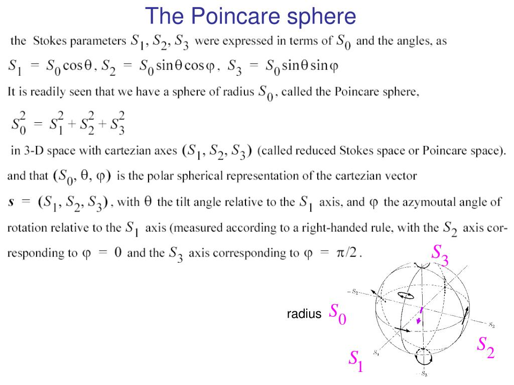 The Poincare sphere