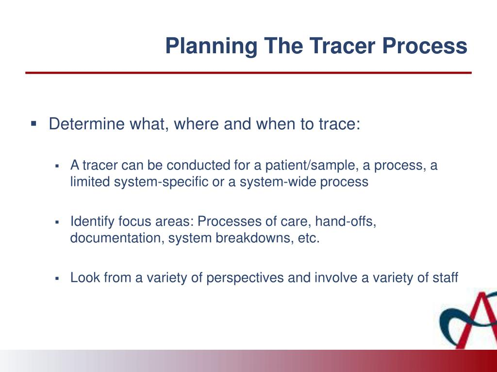 Planning The Tracer Process
