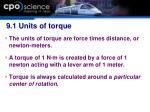 9 1 units of torque