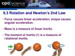 9 3 rotation and newton s 2nd law43