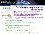 calculating a torque from an angled force