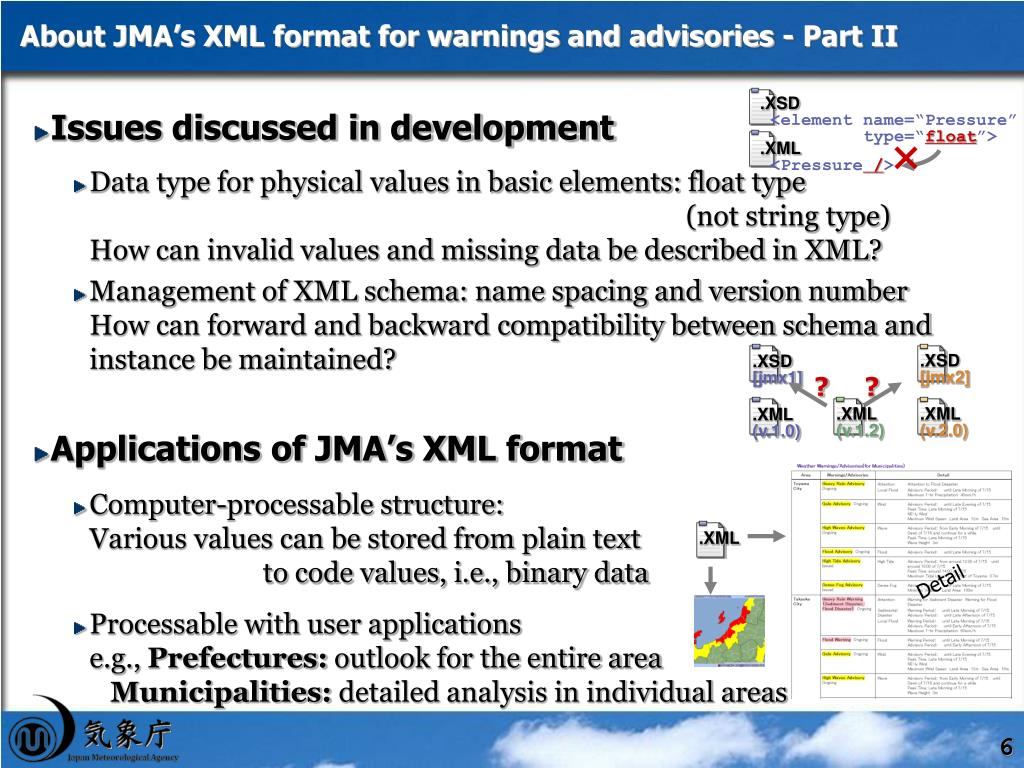 About JMA's XML format for warnings and advisories - Part II