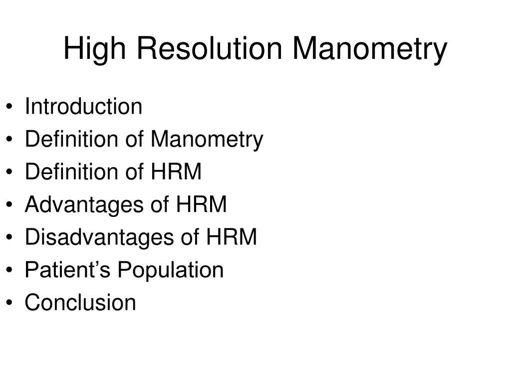 high resolution manometry l.