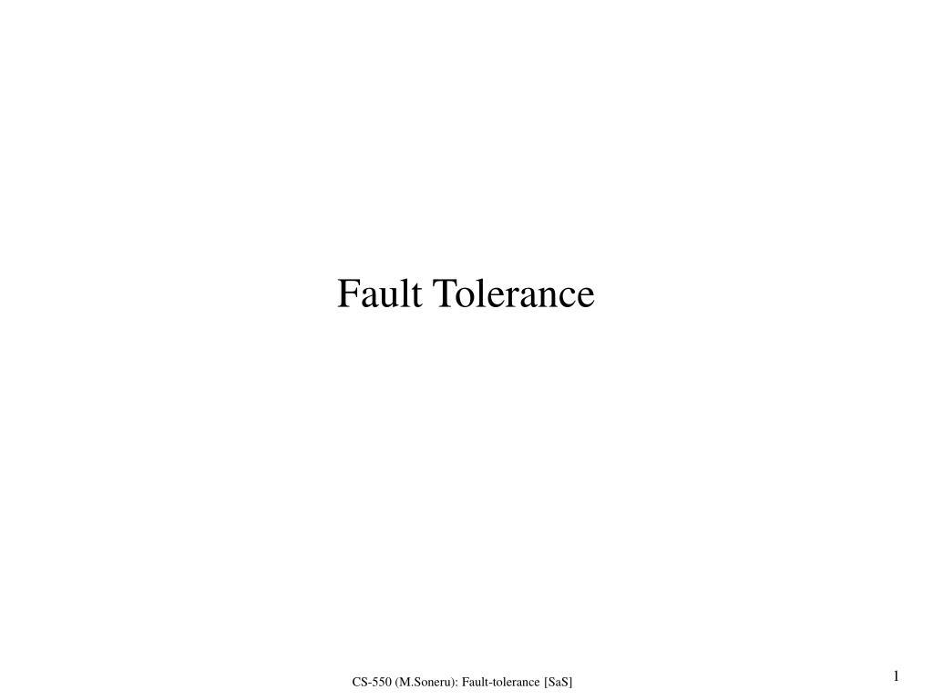 fault tolerance l.
