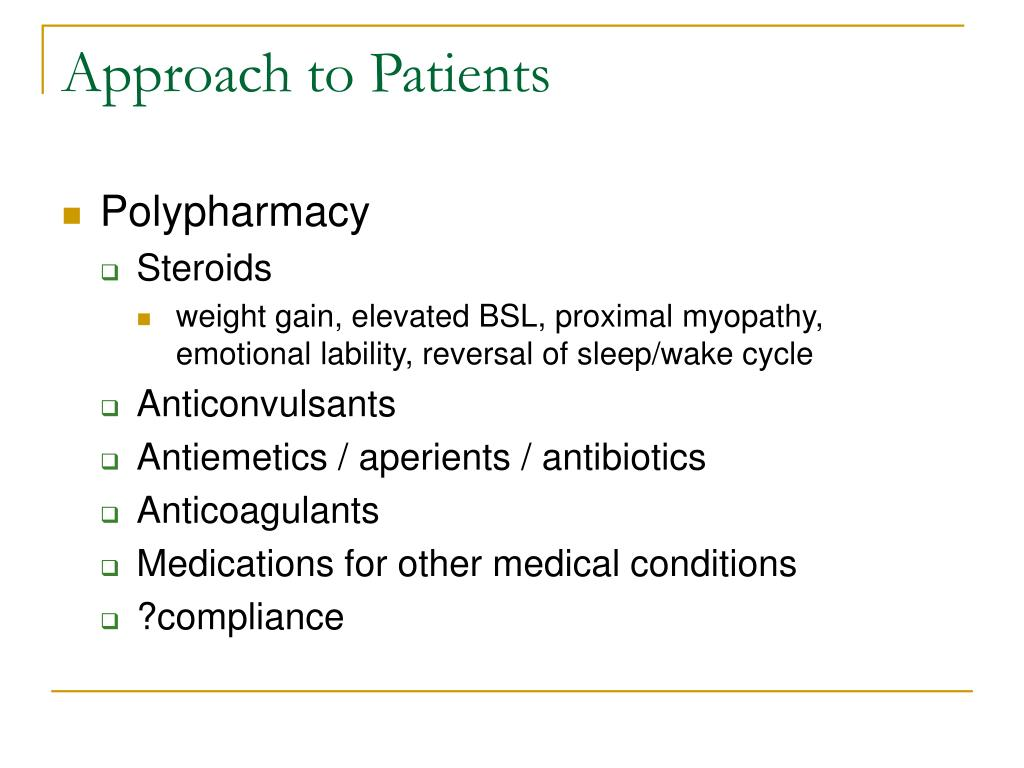 Approach to Patients