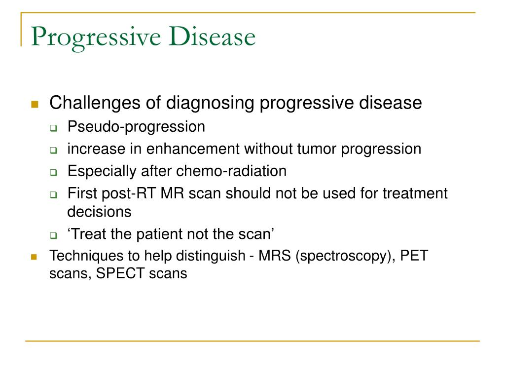 Progressive Disease